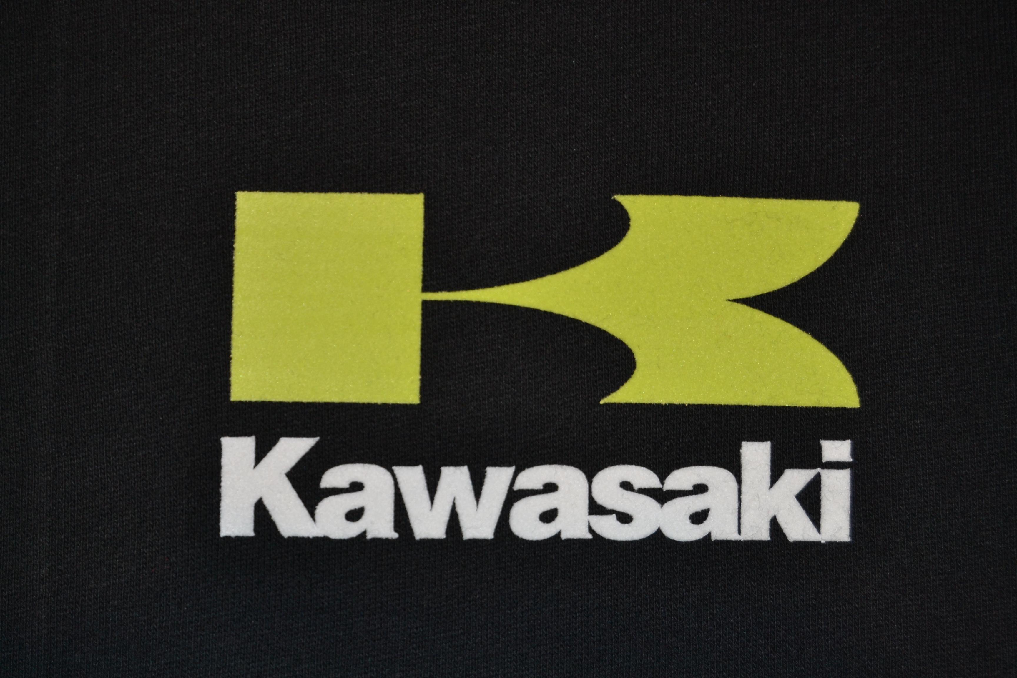 Mikina s potiskem Kawasaki propínací vel. XXL 285g  9169dad1d87